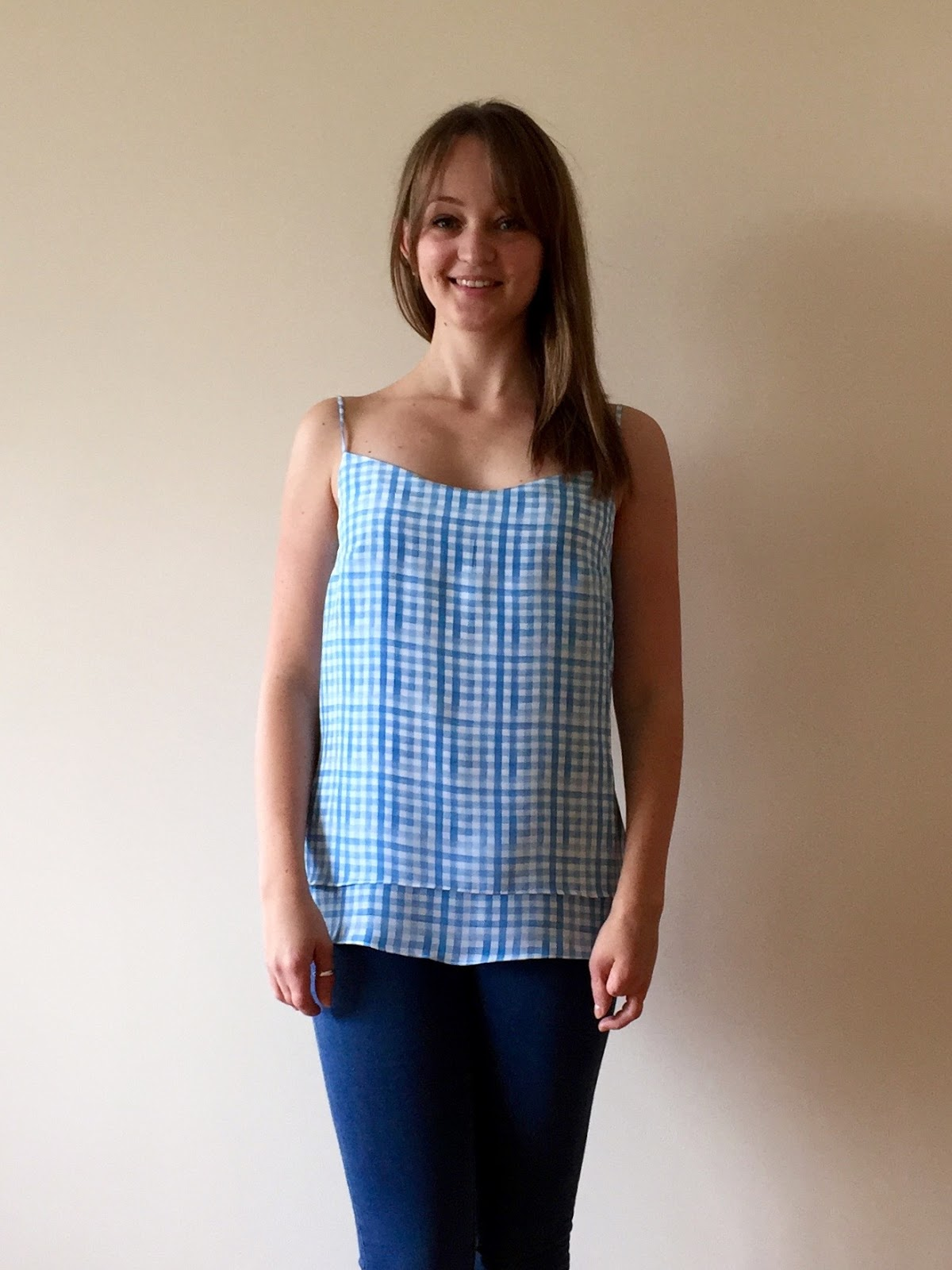 2235e8075 Gingham Silk Double Layer Camisole