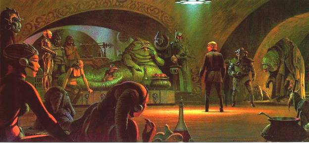 return of the jedi concept art jabba palace