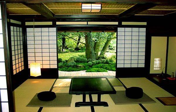 غرفة جلوس يابانية