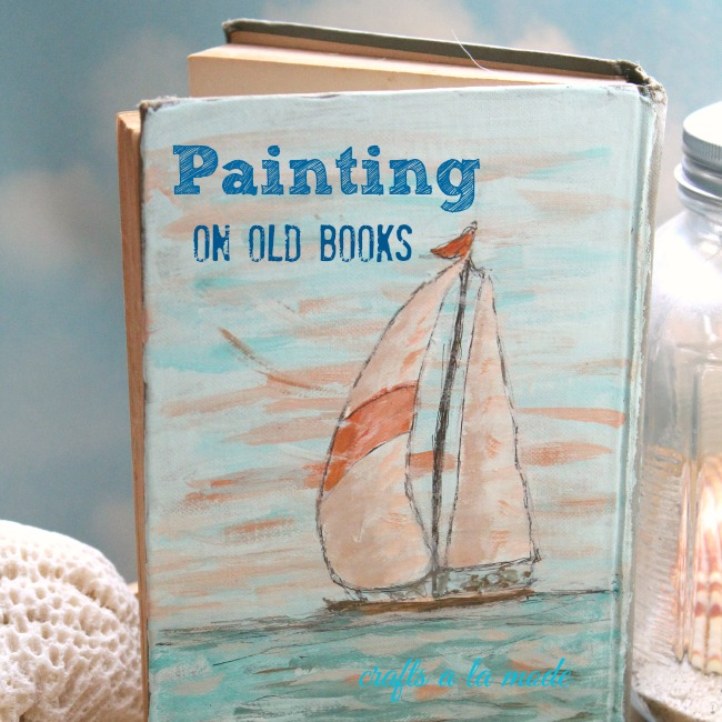 How to paint on an Old Book with Acrylic Paints