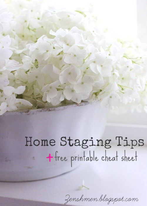 Home Staging Tips + Free Printable Cheat Sheet
