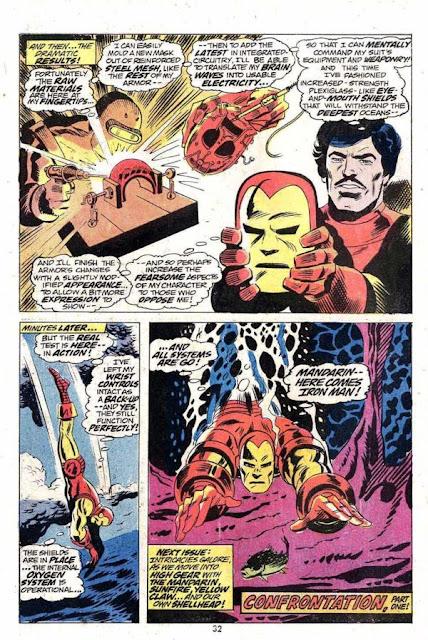 Iron man comic strip