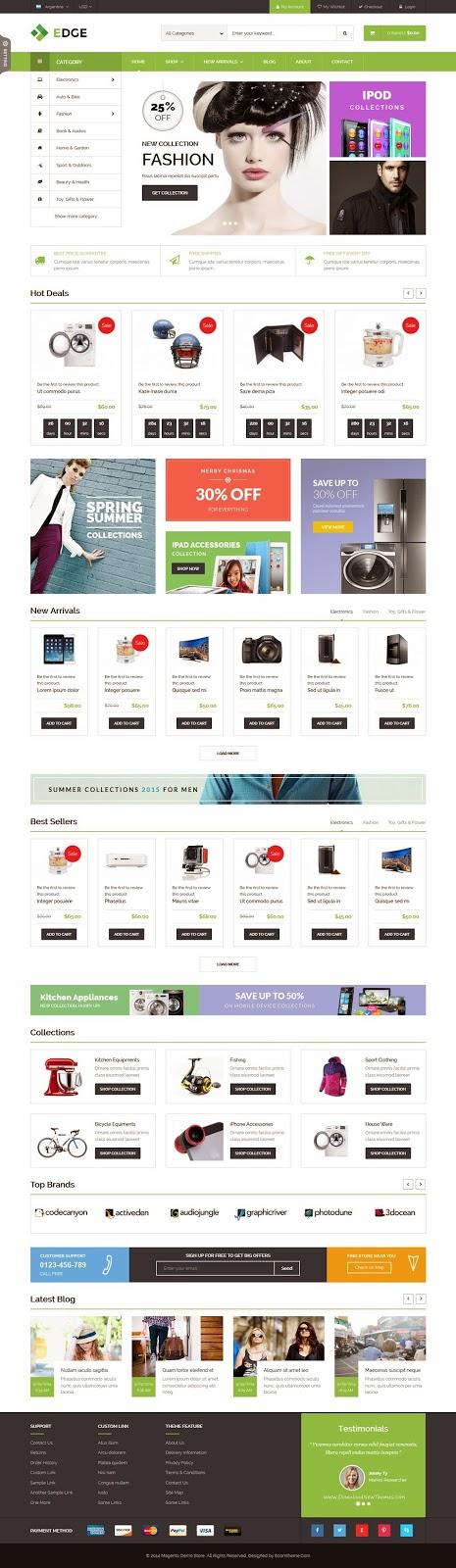 Responsive Multipurpose Magento Theme 2015