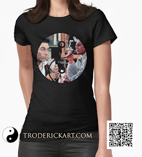 Cosmo Kramer Yin & Yang ladies t shirt  by Boulder artist Tom Roderick