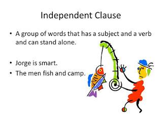 Contoh Kalimat Independent Clause Bahasa Inggris