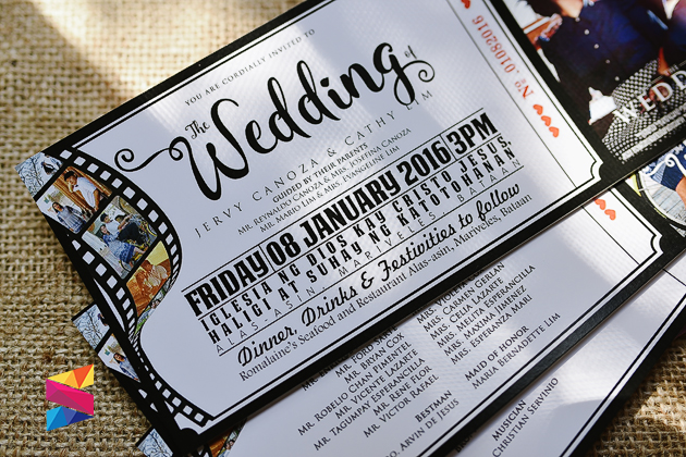 Wedding Invitation Tickets: Jervy & Cathy Movie Ticket Themed Wedding Invitation