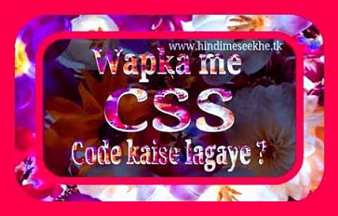 wapka-website-css-code-kaise-lagaye