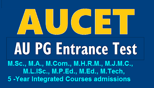 AUCET notification 2020 - 2021 apply online, exam date