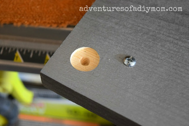 holes for magnets - diy doll sink