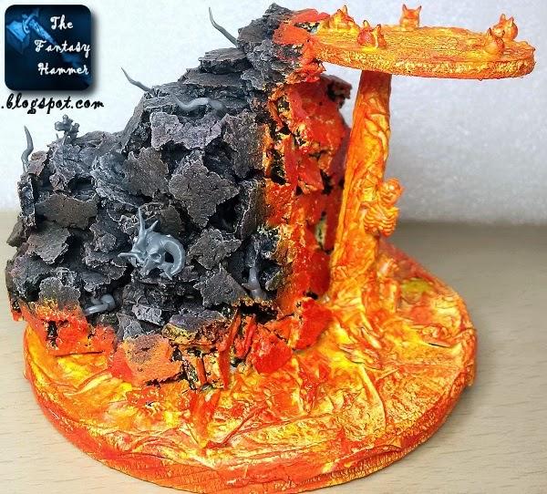 Warhammer diorama lava base WiP2