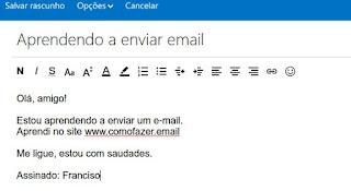 Como fazer para mandar um email