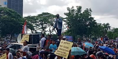 Aksi Demo Warga Baloi Kolam Tuntut Kejelasan Permukiman Pada BP Batam