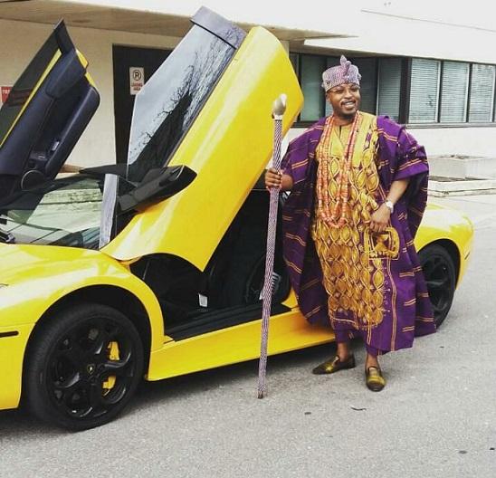 Osun Monarch, Oluwo Flaunts His New Bought Lamborghini Murcielago In Canada