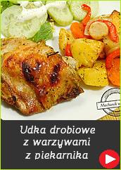 Udka drobiowe pieczone z warzywami