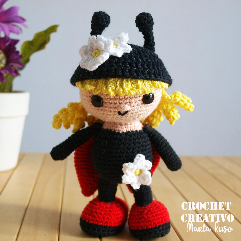 Marta Ruso Crochet Creativo: Muñequita mariquita Mariflower [PATRÓN ...