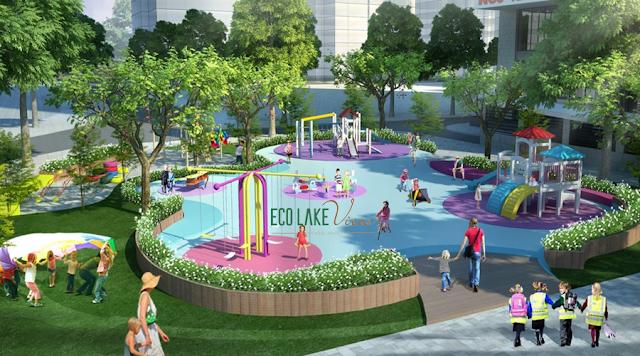Khu vườn trẻ thơi vui chơi tại chung cư Eco Lake View