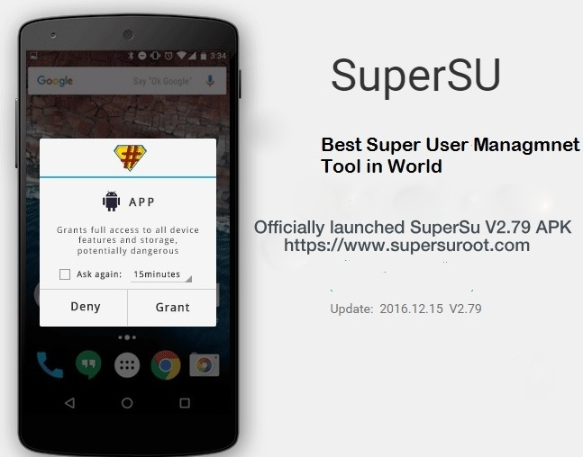 Well-known Android access master rooting tool SuperSu Root