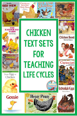 If you're teaching life cycles, these books about chickens will help you build text sets for Chicken week. For details, check out this post on Virginia is for Teachers.