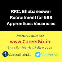 RRC, Bhubaneswar Recruitment for 588 Apprentices Vacancies