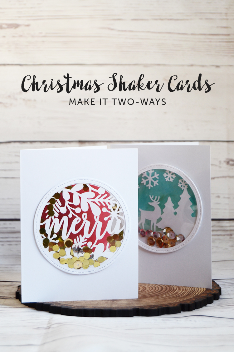 christmas shaker cards DIY
