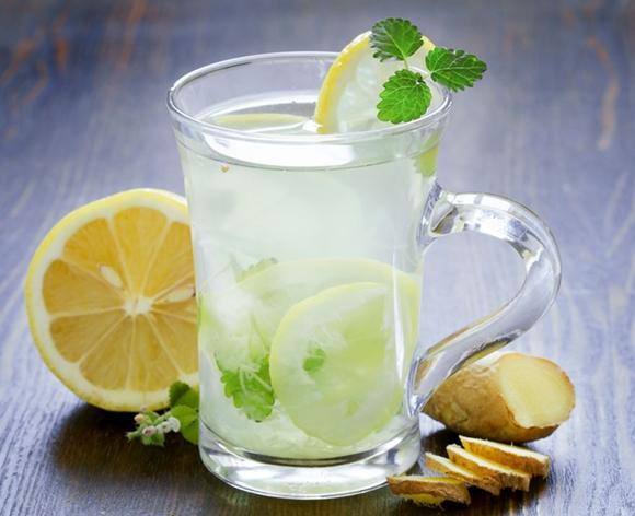 Resepi Air Detox Halia Bersama Buah Lemon