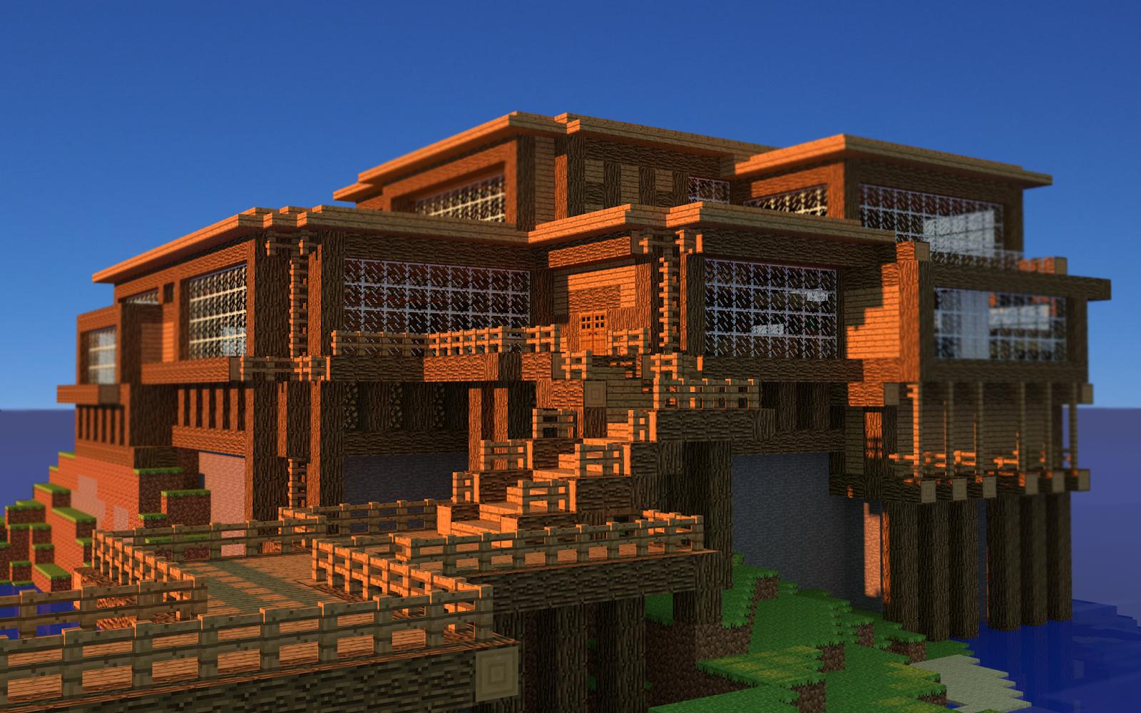 Minecraft Maison Bois Moderne