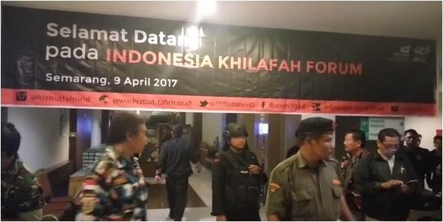 Didukung Banser dan Sejumlah OKP Polisi Akhirnya Berhasil Bubarkan Forum Pendukung Khilafah di Semarang