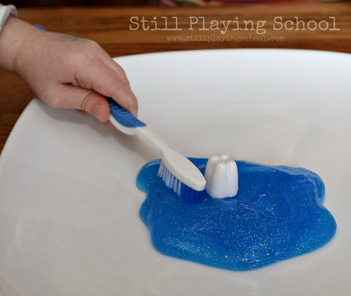 Toothpaste Slime For Dental Health Month