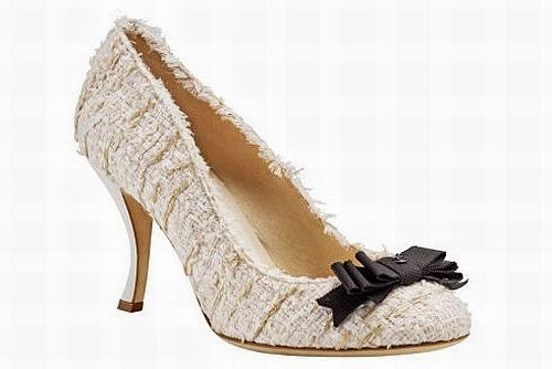 Chanel pale pink tweed shoes, pumps