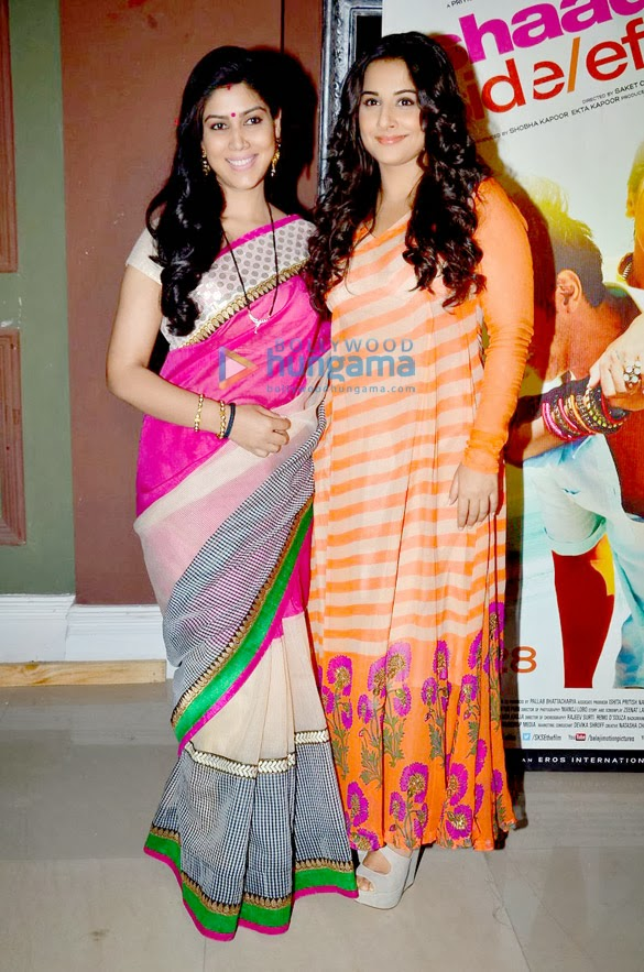 Vidya Balan on the sets of Bade Acche Lagte Hain to promote 'Shaadi Ke Side Effects'