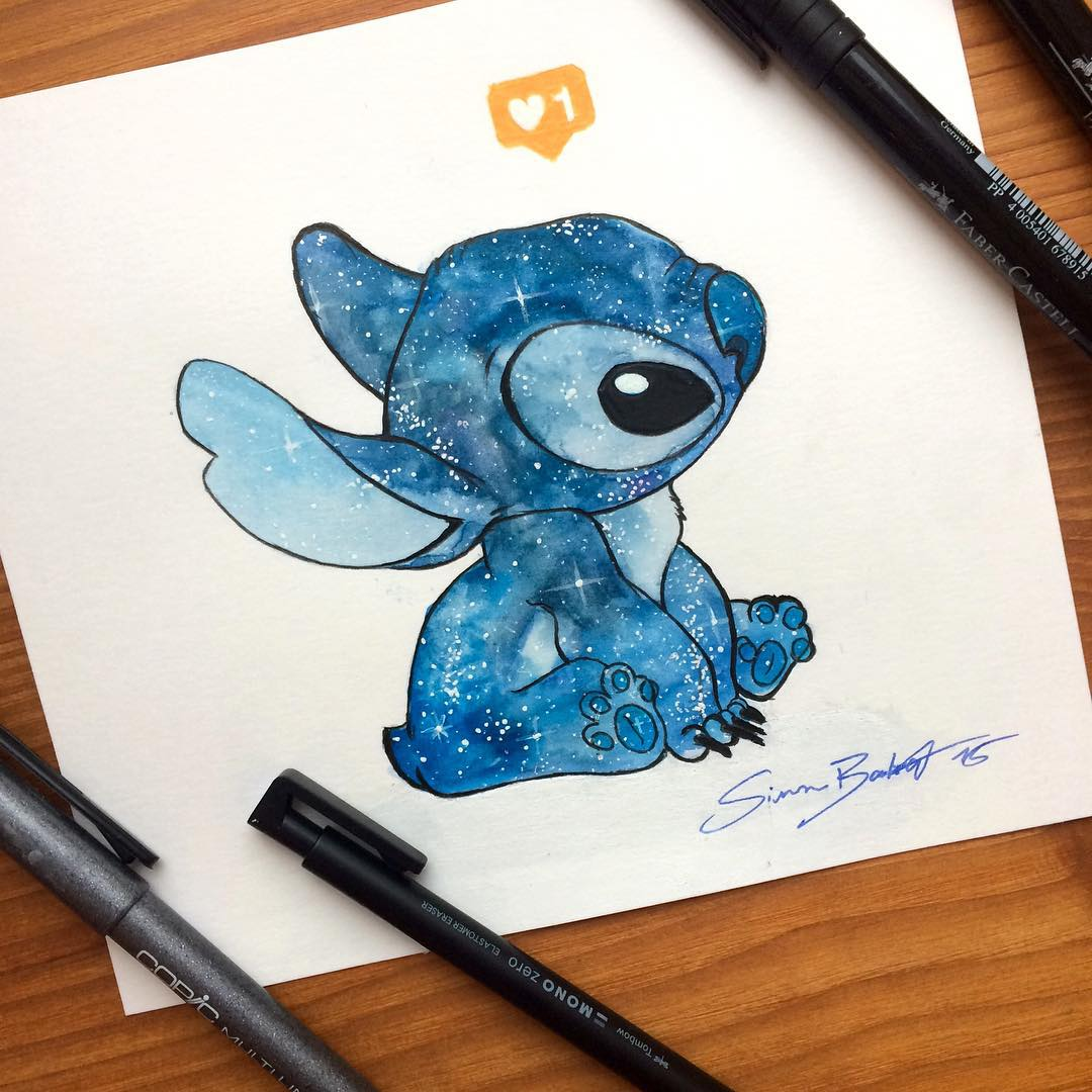 19-Galaxy-Lilo-and-Stitch-Simon-Balzat-Colored-Pencils-make-Beautiful-Drawings-www-designstack-co