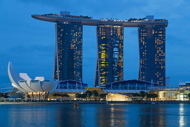 Singapore Marina Bay Sands at night