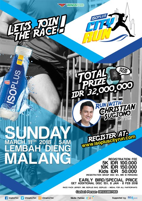 Isoplus City Run - Malang • 2018