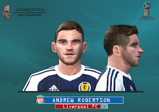 PES 6 Faces Andrew Robertson by Gabo Facemaker