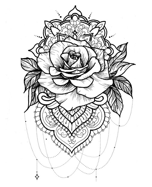 Mandala Pose Of Magnificent Rose