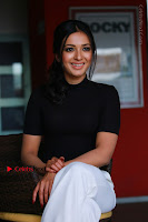 Actress Catherine Tresa Latest Stills in Black Top and White Pants  0010.JPG