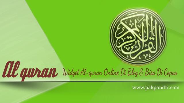 Widget Al-Quran Online Di Blog Dapat Copy Paste