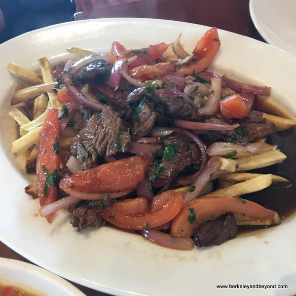 Lomo Saltado at Puerto 27 Peruvian Kitchen in Pacifica, California