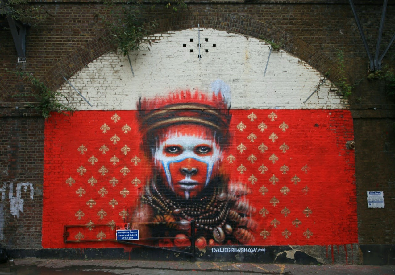 Dale Grimshaw recently spent a few days working on this new piece somewhere on the streets of London, UK.