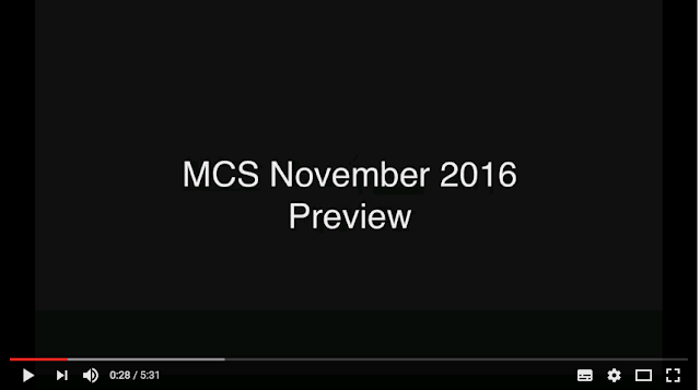 MCS November 2016 Preview from Ultimate access