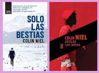portadas del libro rustic noir Solo las bestias, de Colin Niel