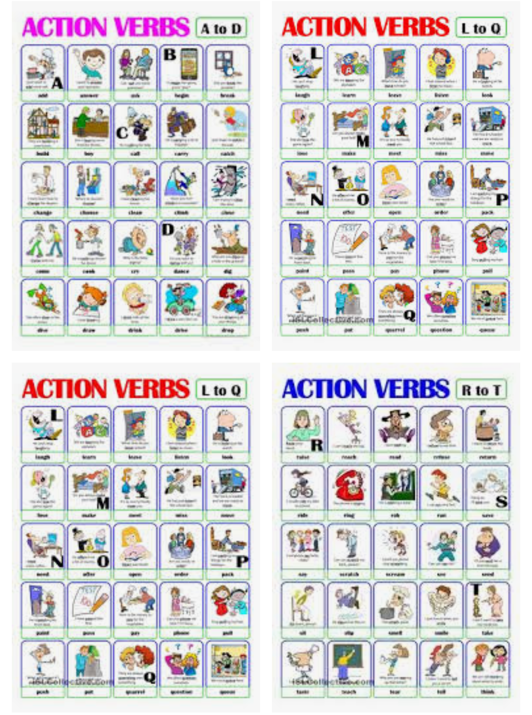 Download Pictionary Action Verbs A To Z Word Format