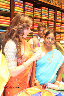 Actress Samantha Pictures in Saree at South India Shoping Mall Launch 0255