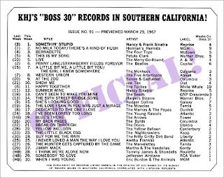 KHJ Boss 30 No. 91 - March 29, 1967