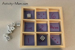number matching with dice