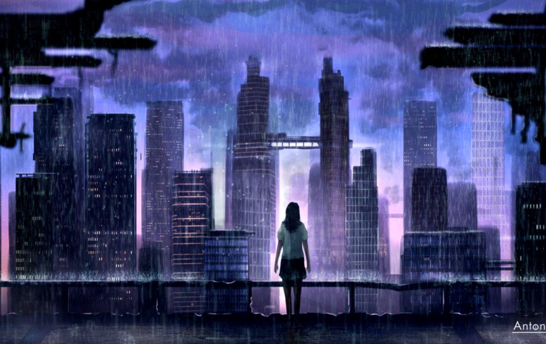 Art Wallpaper City When Rain Wallpapers Moving