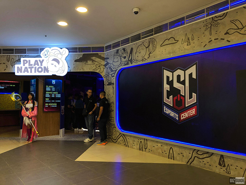 Globe Esports Center is located at 1/F Phase I, UP Town Center, near Coco
