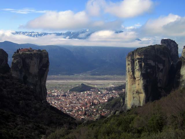 Meteora_Panorámica Kalambaka y Agia Trias