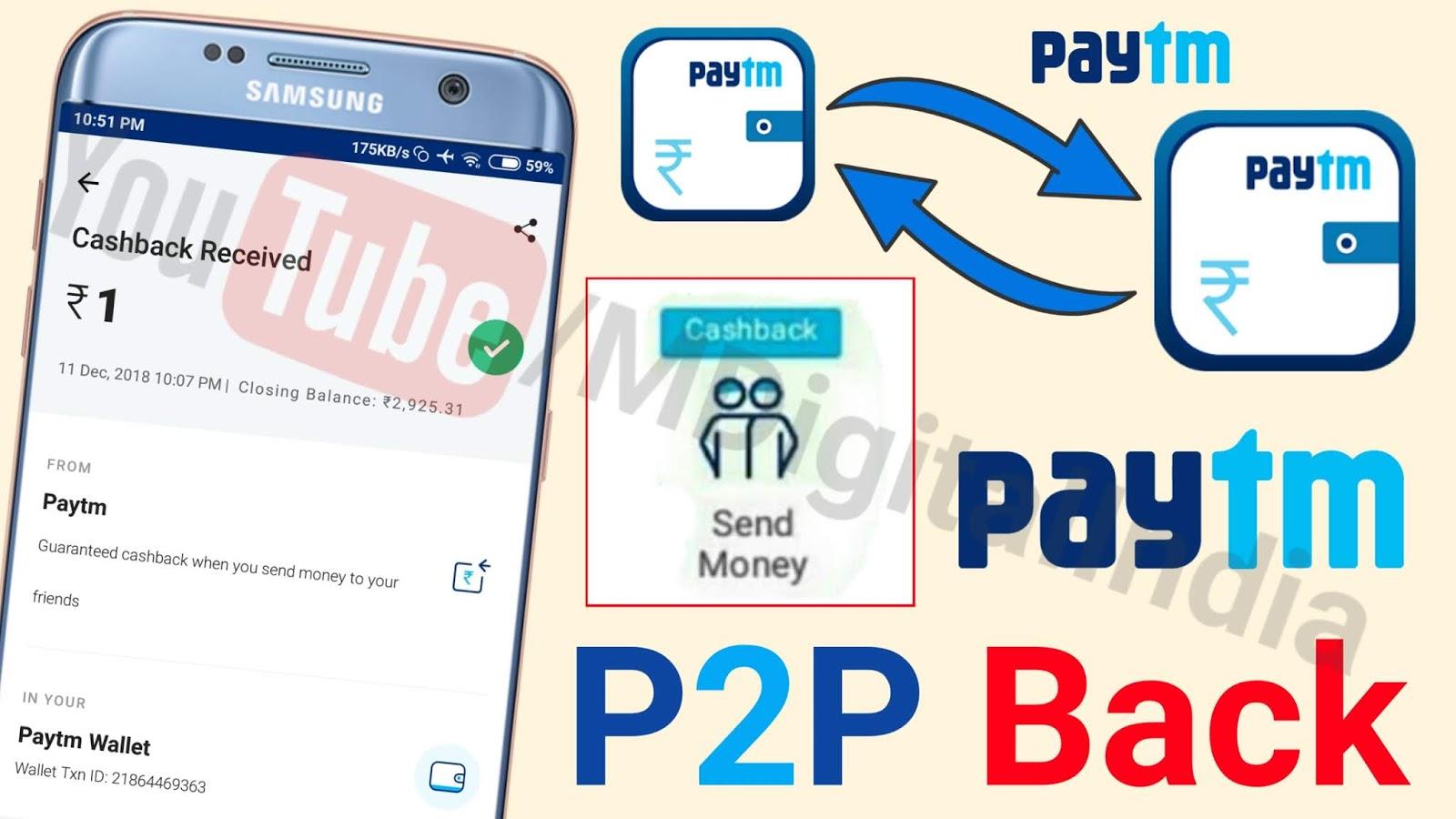 Paytm new P2P Offer back - M Digital India