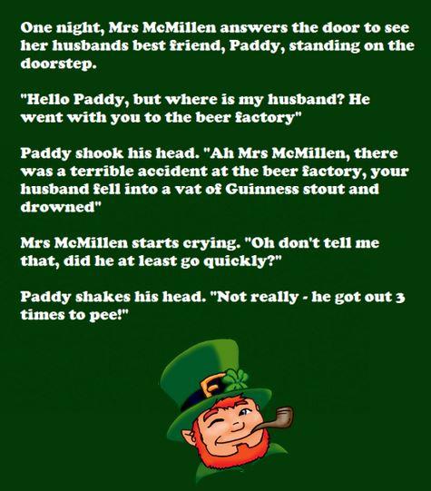 Saint Patrick's Day Irish Jokes 2018, Limericks, Riddles, One-Liners, Short Clean Irish Stories